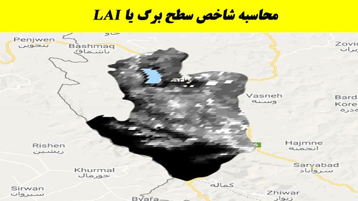 محاسبه شاخص LAI با تصاویر مودیس | MODIS