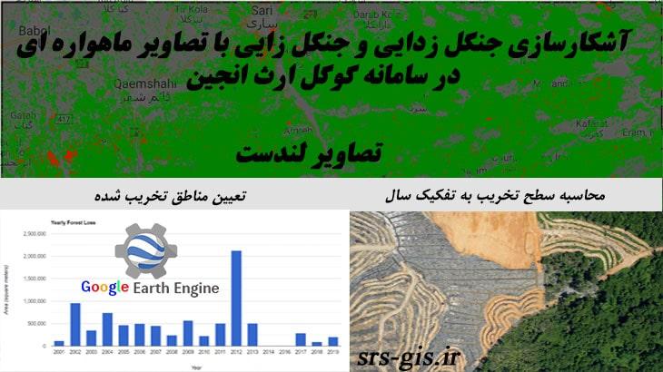 آشکارسازی جنگل زدایی و جنگل زایی با تصاویر ماهواره ای در سامانه گوگل ارث انجین | مدرسه سنجش از دور و جی ای اس