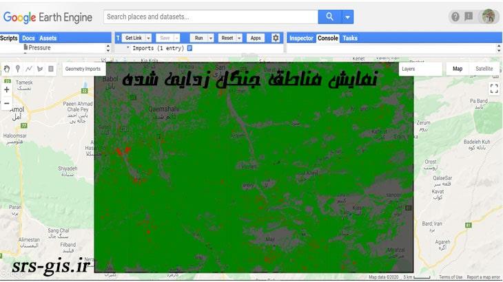 نقشه مناطق جنگل زدایی شده