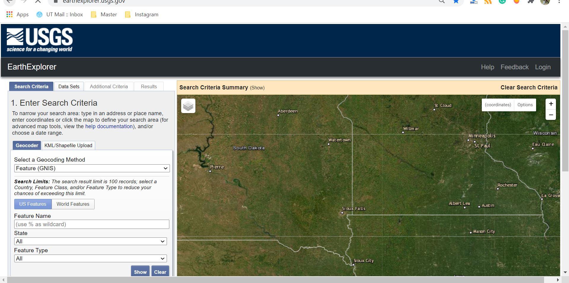 دانلود تصاویر از USGS Earth Explorer