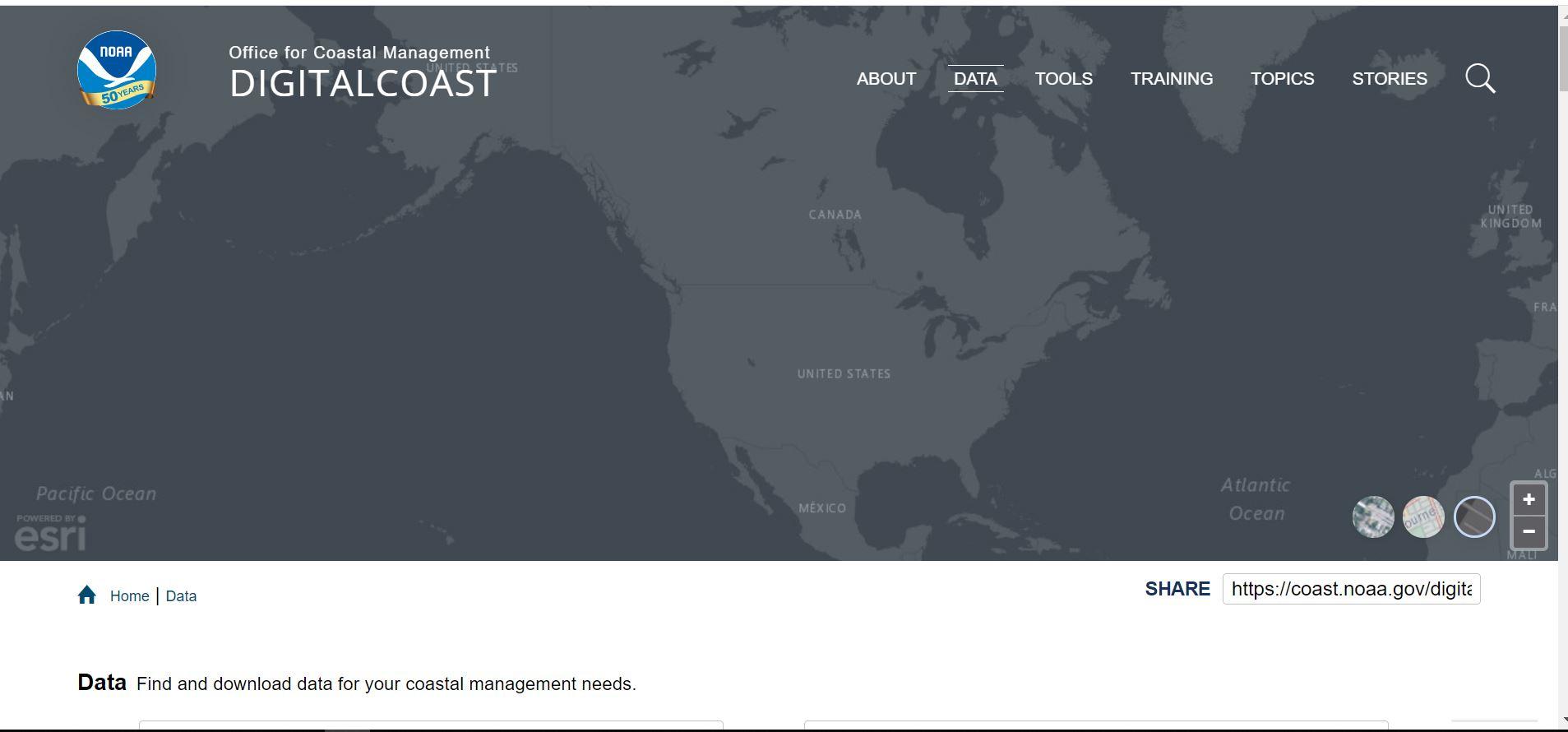 دانلود تصاویر خط ساحل Digital Coast