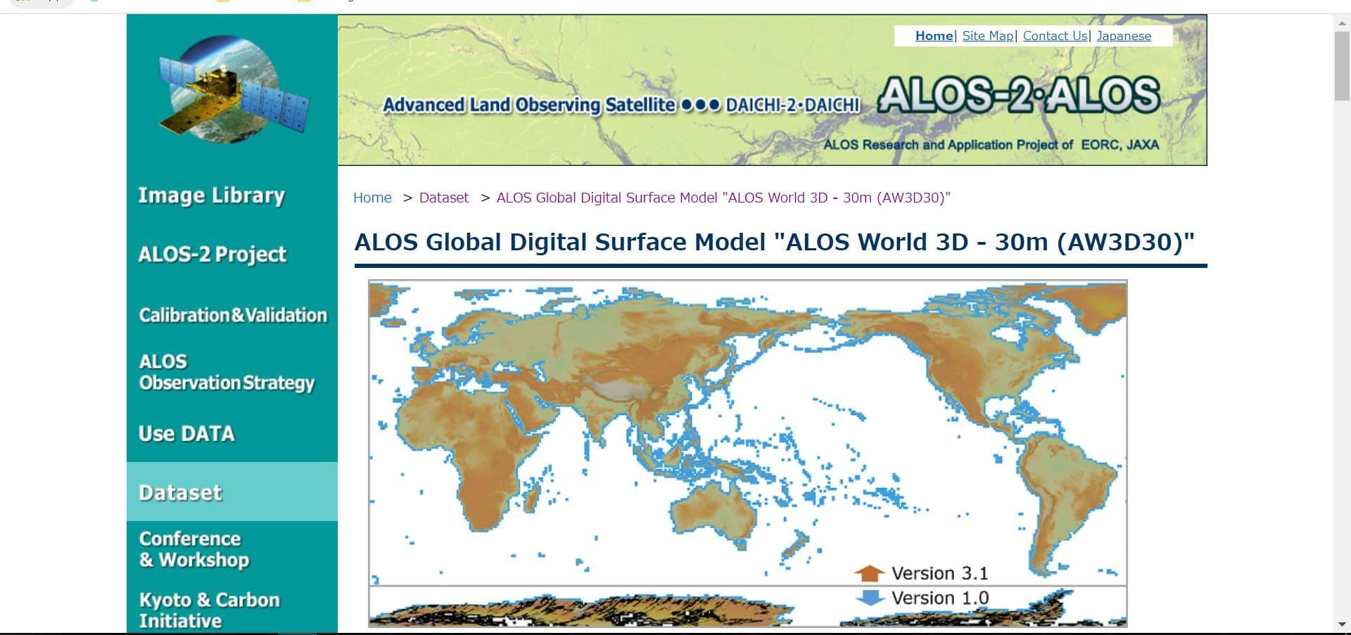 دانلود تصاویر Global ALOS