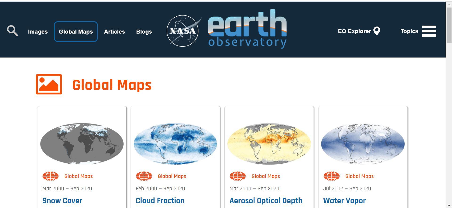 سایت NASA Earth Observatory