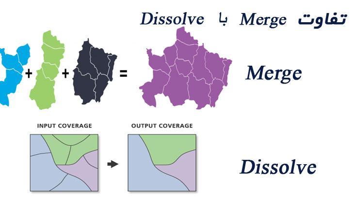تفاوت merge با dissolve