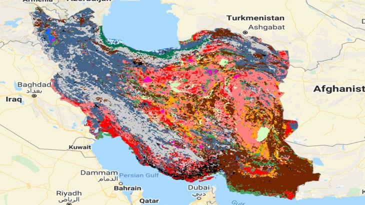 نقشه پوشش زمین با دقت بالا برای کل ایران