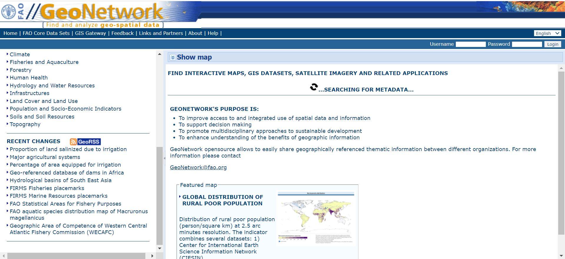 سایت FAO GeoNetwork