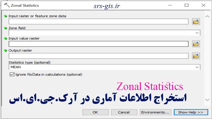 Zonal Statistics در آرک جی ای اس