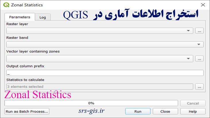 Zonal Statistics در نرم افزار QGIS