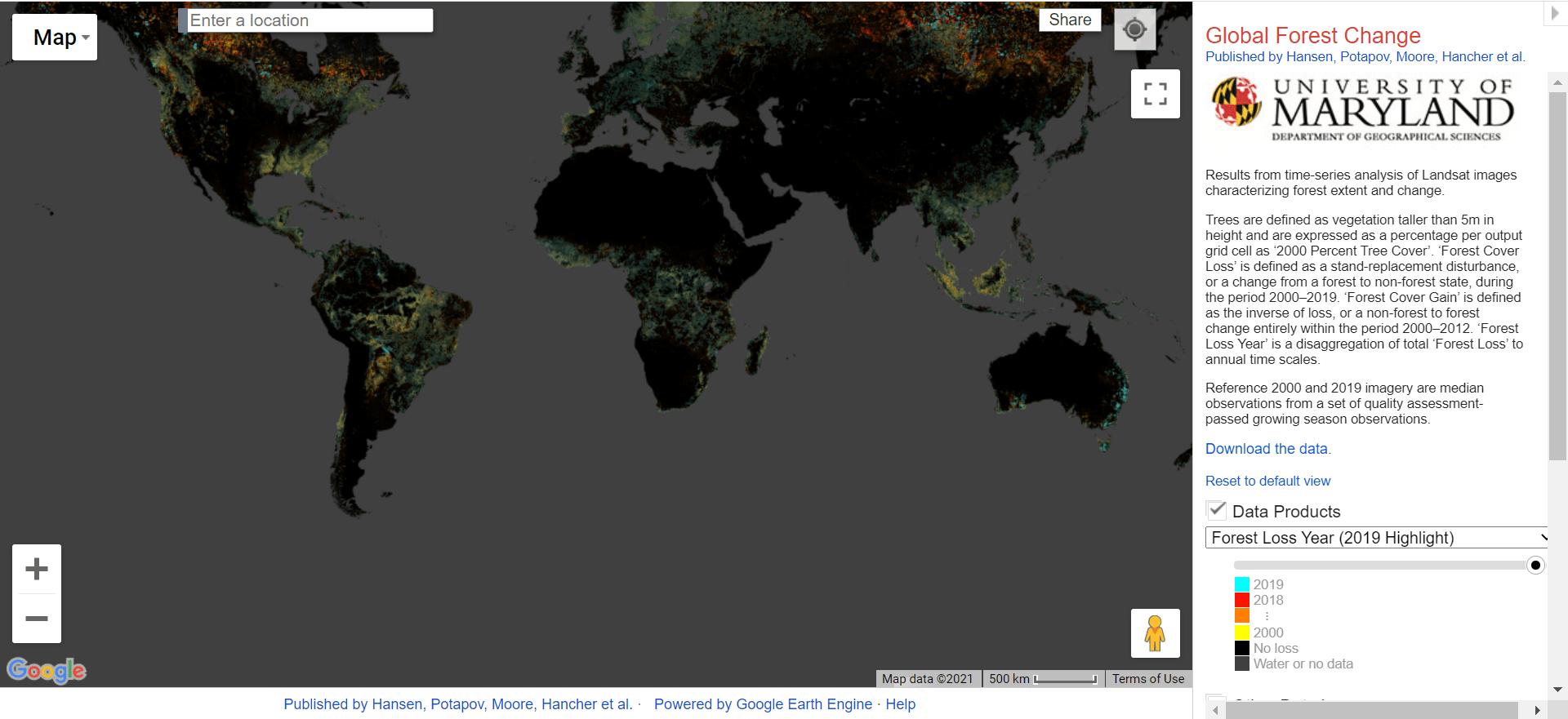 تهیه نقشه پوشش زمین از وبسایت Global Land Survey