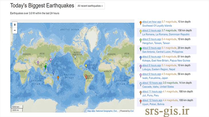 دانلود داده زمین لرزه از سایت Earthquake Track